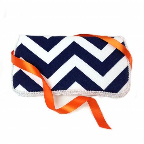 navy blue chevron wipes case