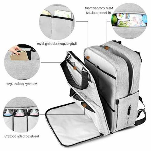 ONSON Backpack Baby Travel Pack Mummy Baby Pockets