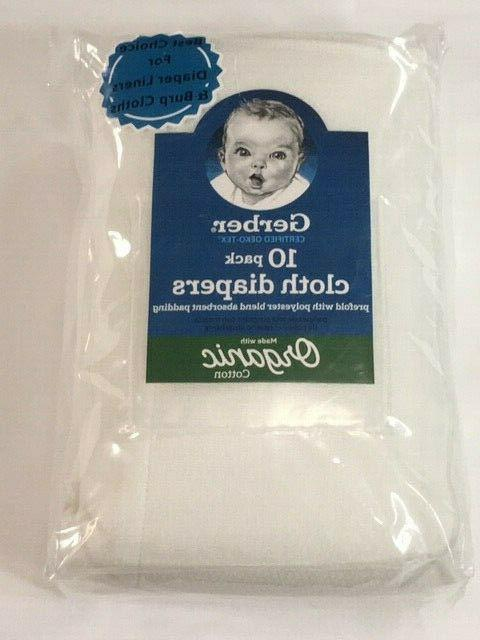new organic 10 pack cloth diapers certified
