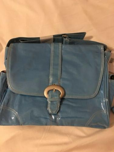 new orleans diaper bag baby blue corduroy