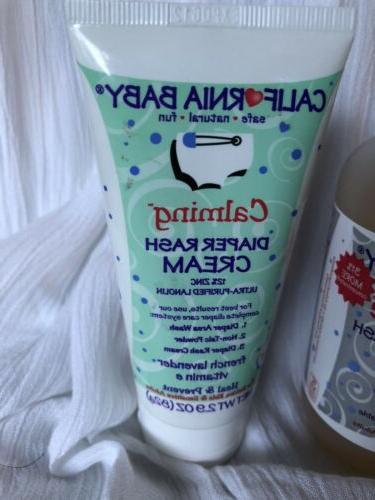 New California Baby, Super Sensitive Shampoo & Wash & Diaper Cream
