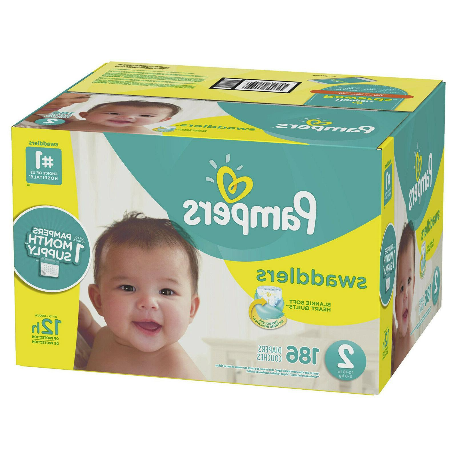 new swaddlers 186 count size 2 pack
