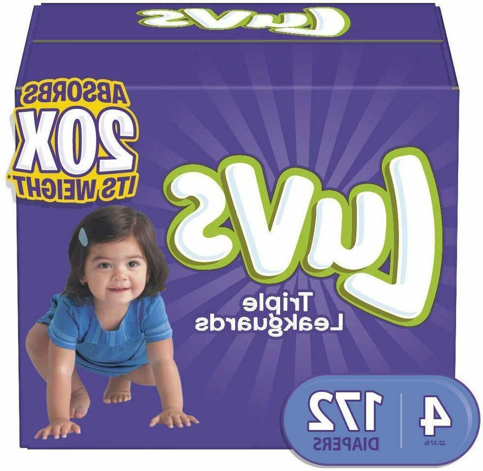 Luvs Diapers Size 4, 172 Count - Luvs Ultra Leakguards Dispo