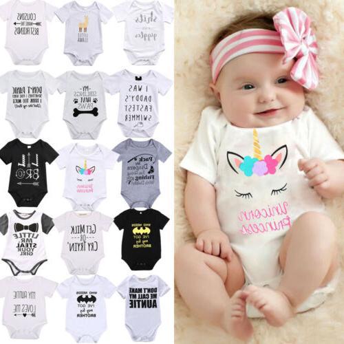Lots Newborn Girl Letter Romper Bodysuit Clothes