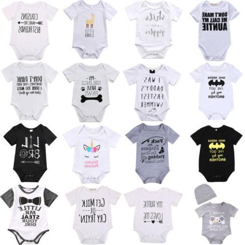 lots newborn baby boy girl letter print