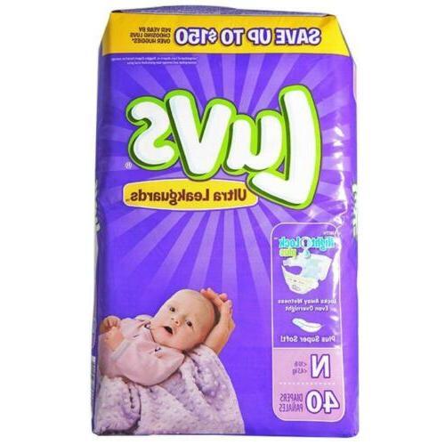 newborn ultra leakguards diapers 40 count