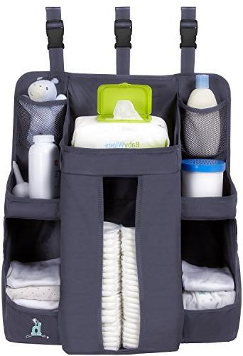 hiccapop Baby Caddy Hanging Diaper Organization Storage for Baby | Hang on Crib, Changing Table or Wall