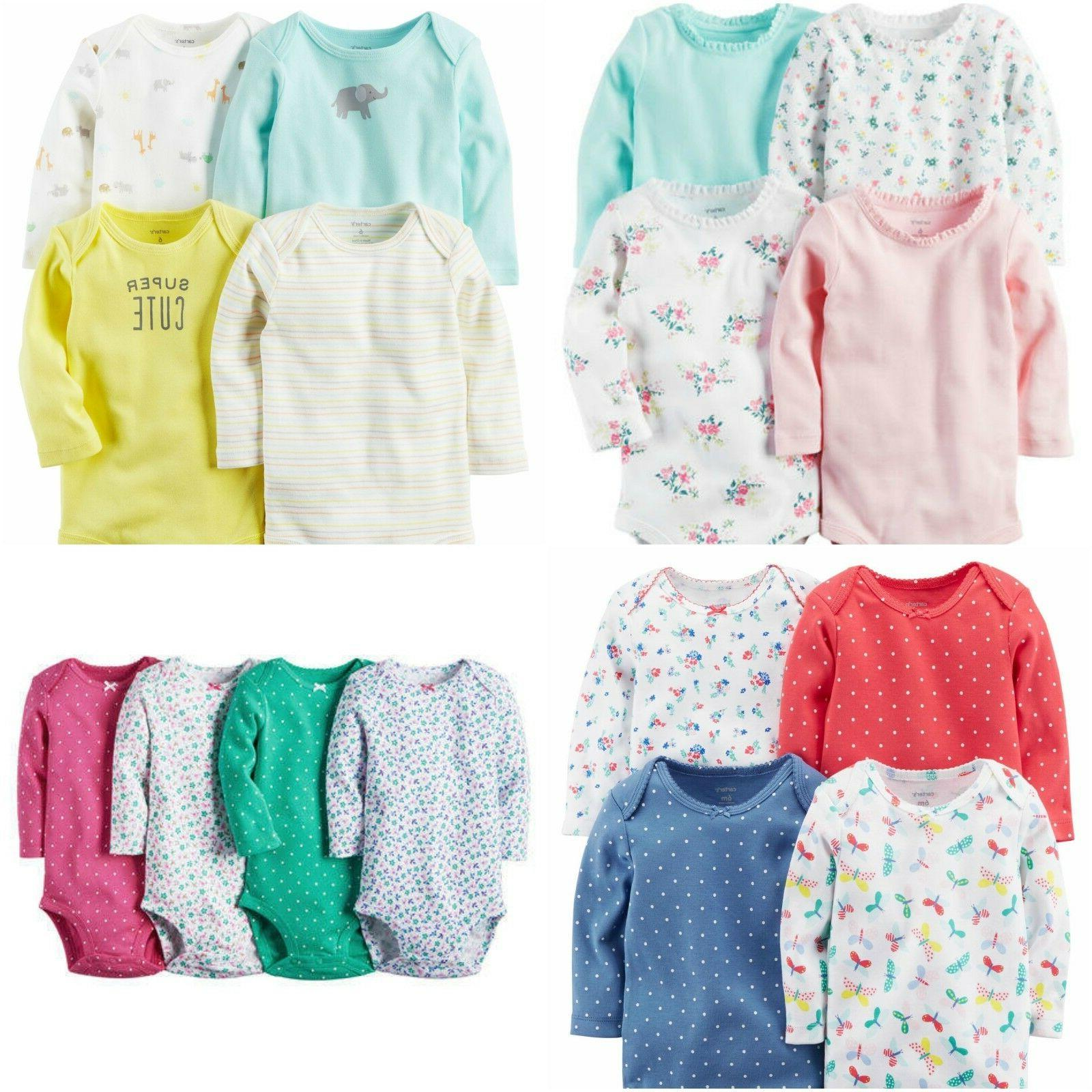 NWT Carter's 4 or 5-Pack Baby Girl Bodysuits Set
