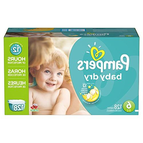Pampers Dry 6 Diapers Plus Pack 128