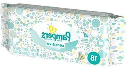 Pampers Dry 2 Disposable 37 count Wipes 18 ct