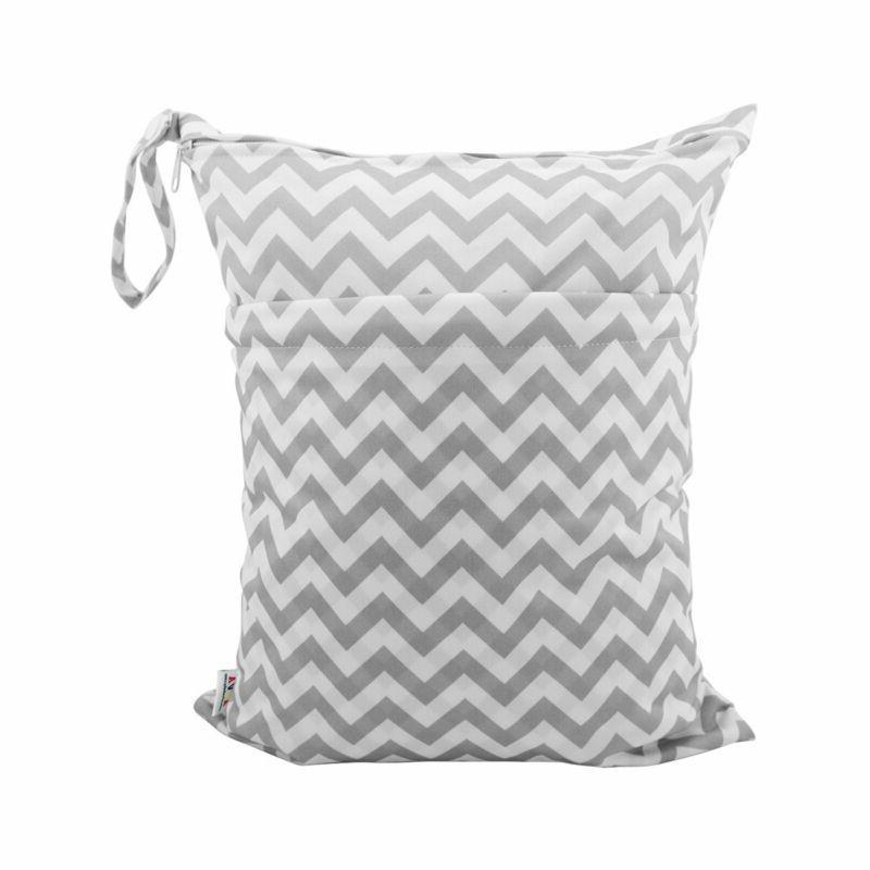 pañal mojado seco bolsas impermeables con dos cremalleras