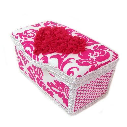 Hot hot pink heart 3 basket