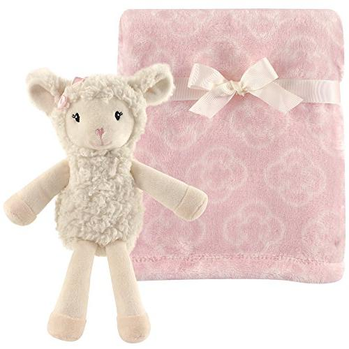 plush blanket and animal security blanket set