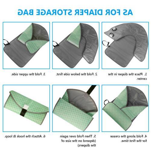 Portable Baby Diaper Pad Waterproof Folding Bag