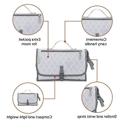 Baby Changing Diaper Bag, Travel Changing Mat Station, Grey Large