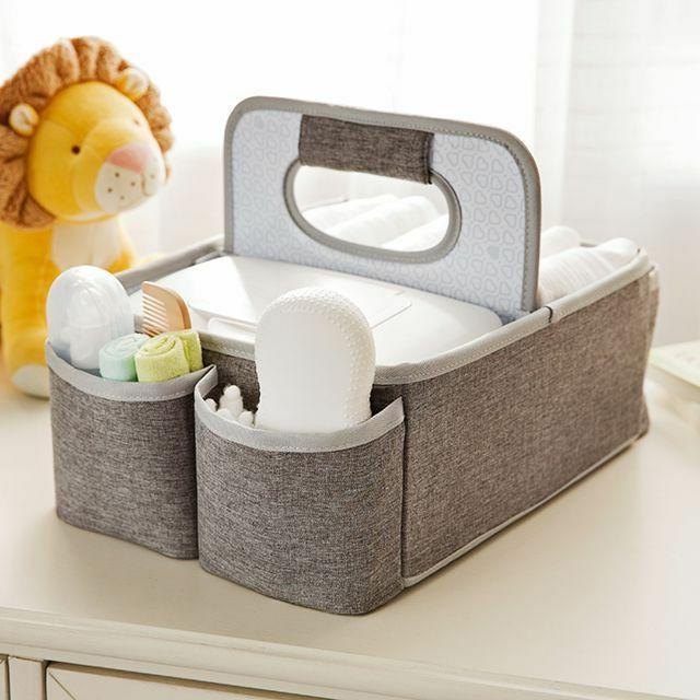portable diaper caddy organizer kit grey geat