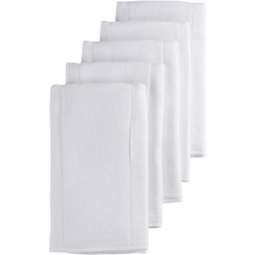 prefold gauze diaper white 5 count