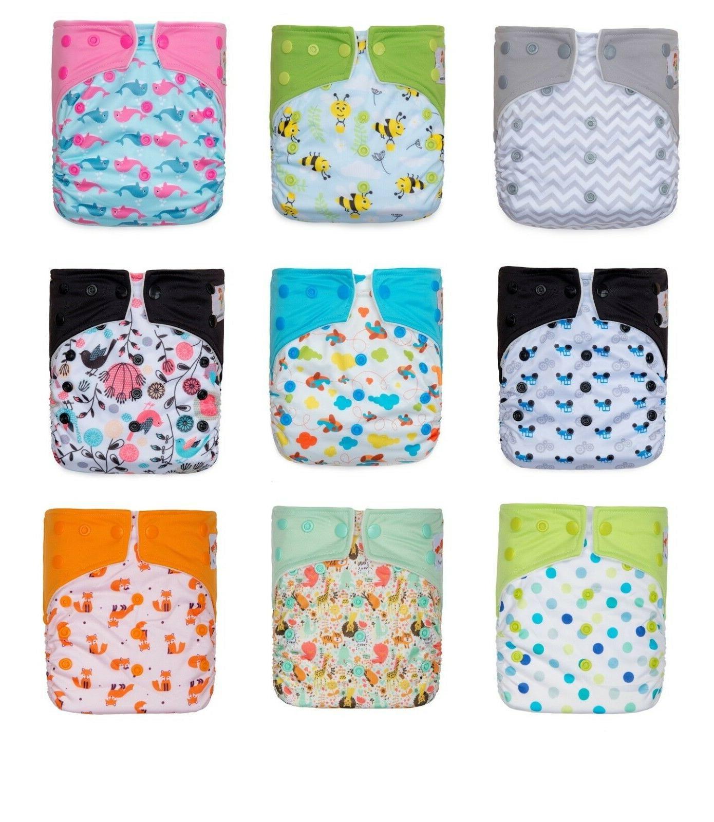 printed cloth diaper snap closure 2 microfiber