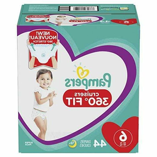 Pampers Pull On Size 6, 44Count Cruisers Disposable Baby