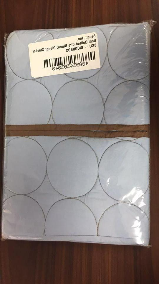 quilted circles blue chocolate diaper