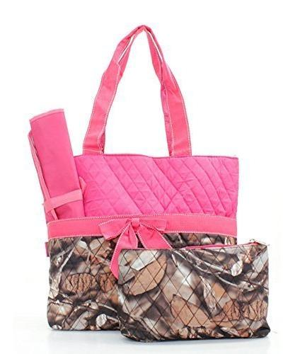 quilted pink camo print monogrammable