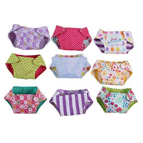 reversible doll cloth diaper set