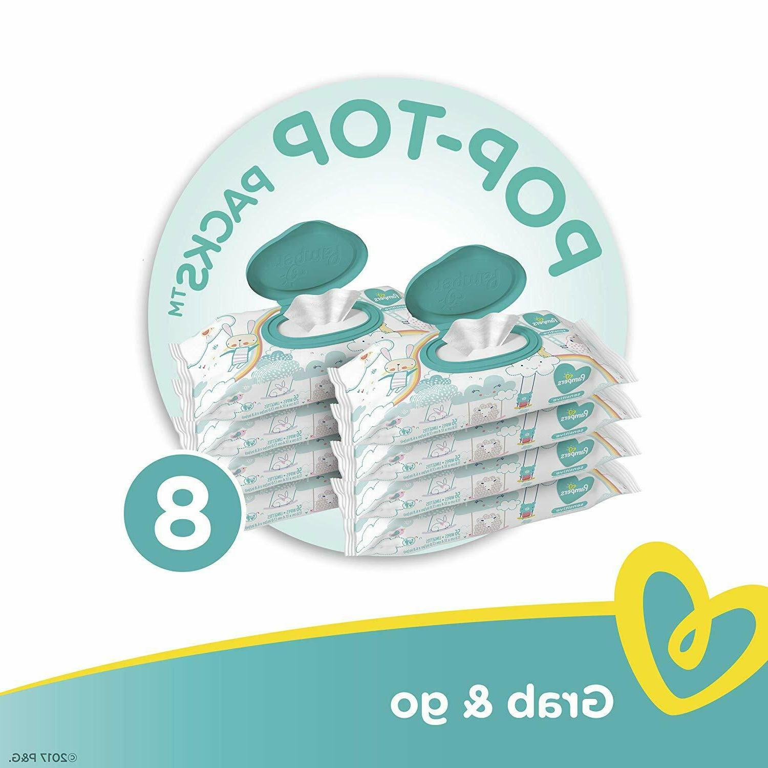 Pampers Sensitive Wipes, Pop-Top Refill, Count