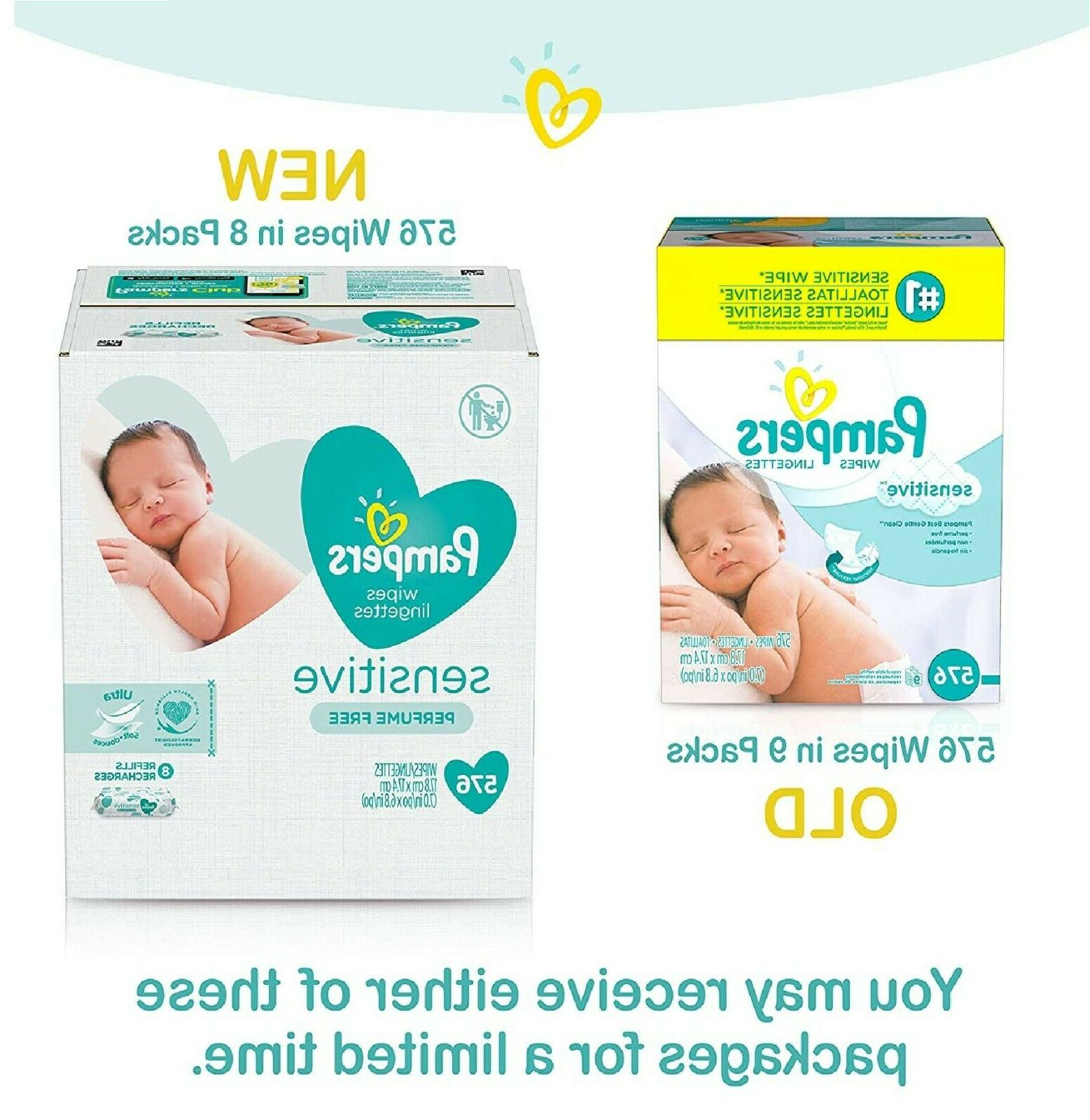 Pampers Sensitive Water Baby Wipes Hypoallergenic Unscented,