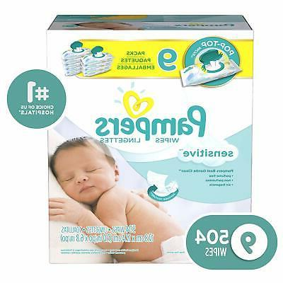 Pampers Water-Based Diaper Wipes, - 504 Count