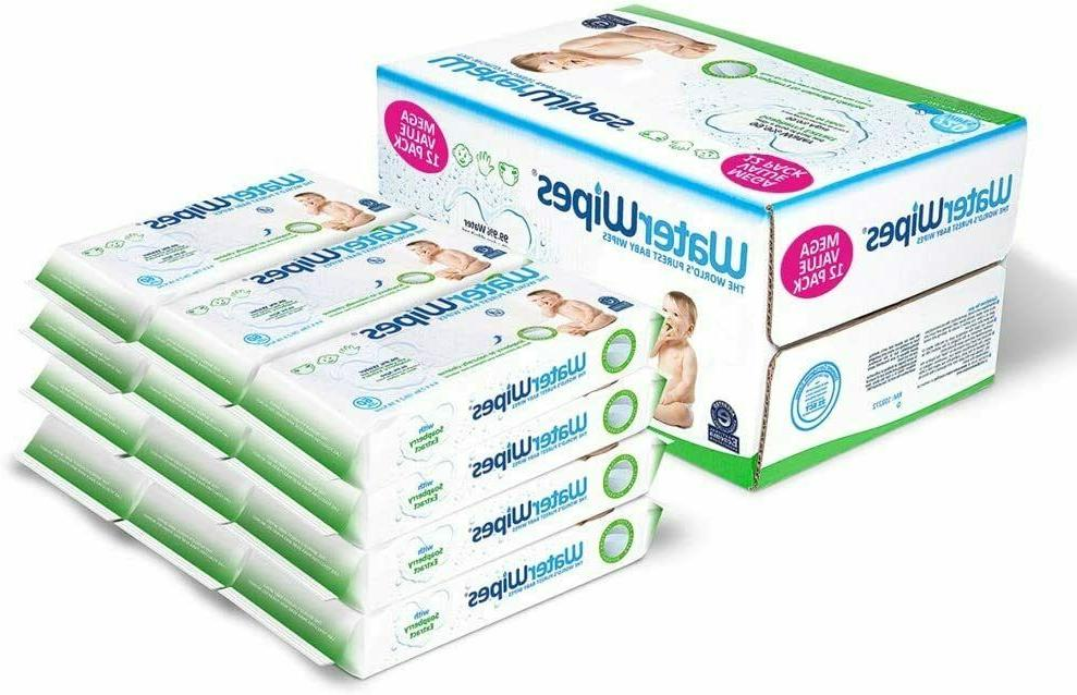 WaterWipes Sensitive Wet Wipes, & Chemical-Free, 12 Count
