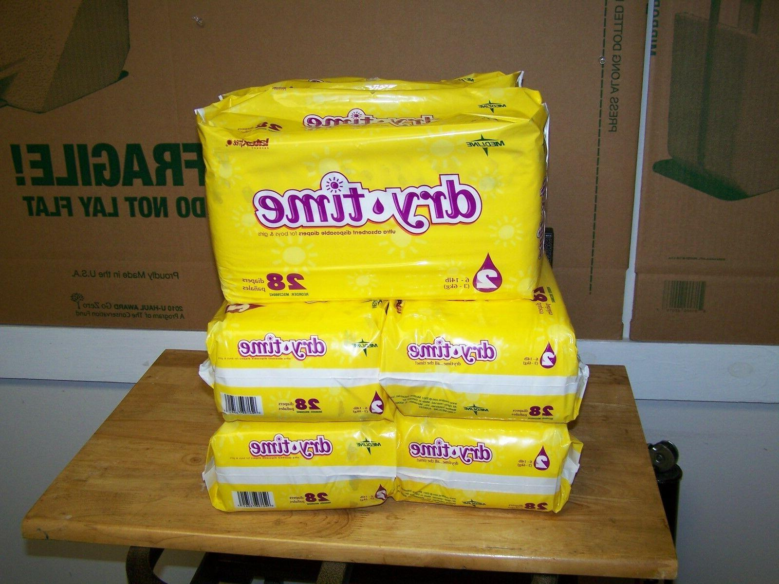 SIZE DRY TIME ABSORBENT DIAPERS PACKS PER