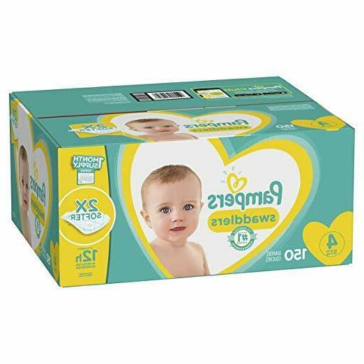 size 4 150 count pampers swaddlers disposable