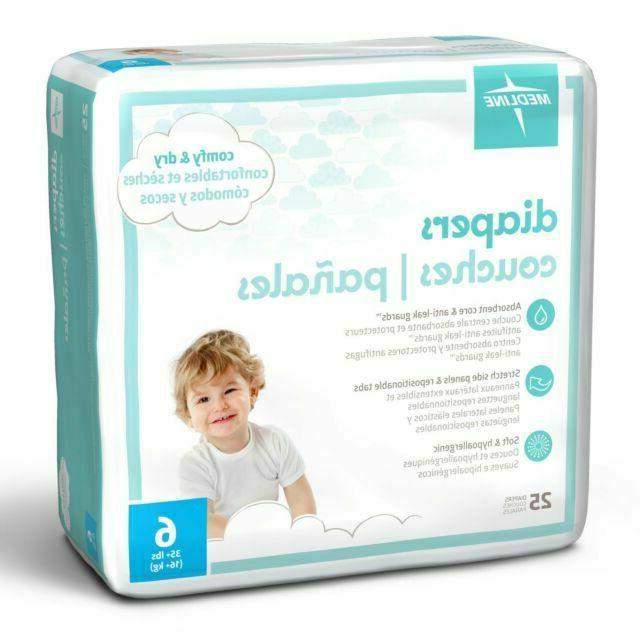 size 6 diapers 35 lbs 6 packs