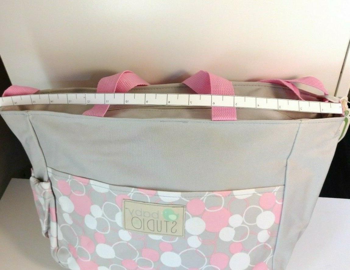Small Girl Bag + Washcloths + Accessory Pink Dots