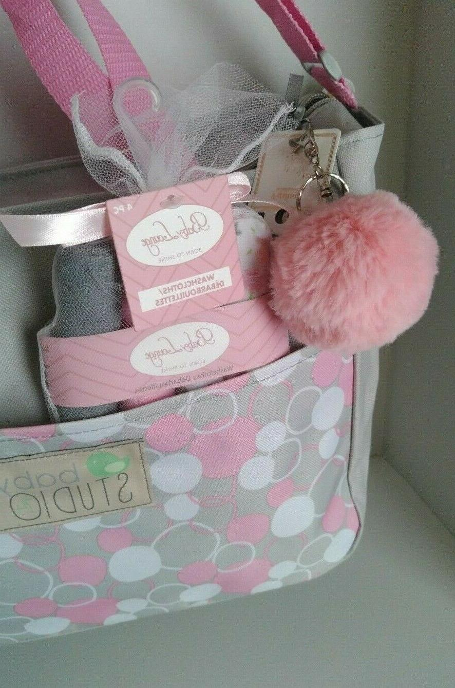 Small Baby Bag Accessory White Dots NWT