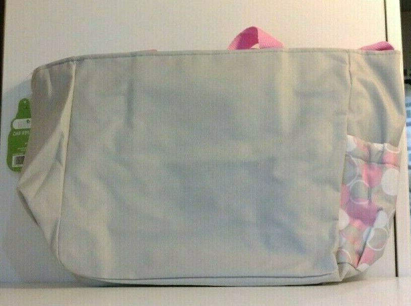 Small Baby Girl Bag Washcloths Accessory Grey Pink White Dots