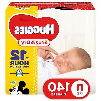 snug dry diapers size newborn 140 count