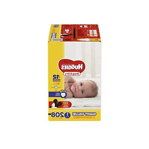 HUGGIES Snug & Diapers, 1, 208 Count,