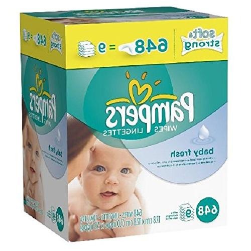 Pampers Soft Wipes Refills, Baby 9