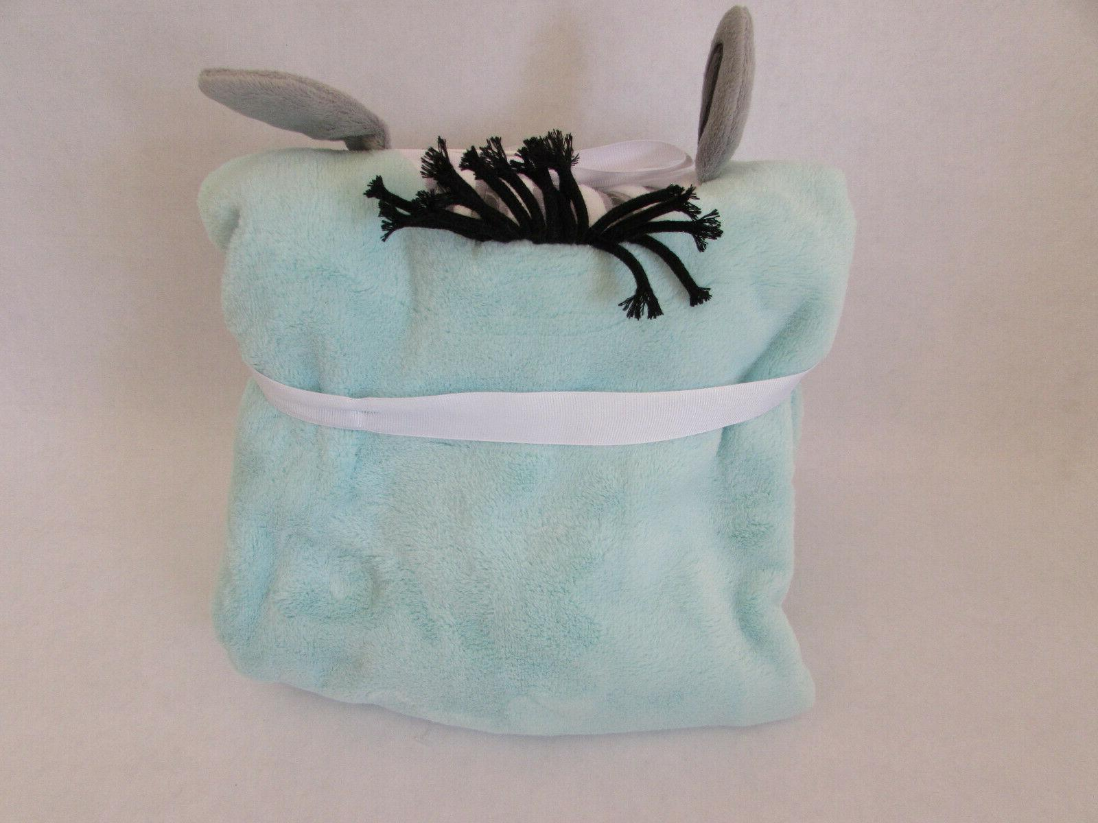 Koala Baby Soft Zebra Blanket x Mint