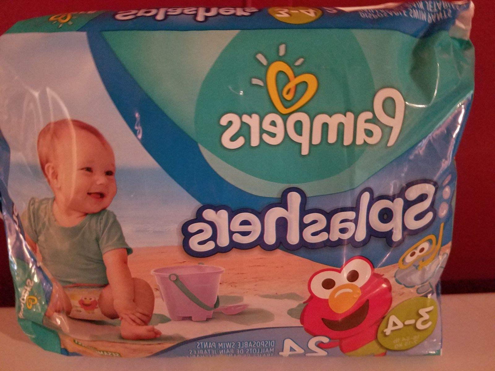 Pampers Splashers Diapers, Size Count,