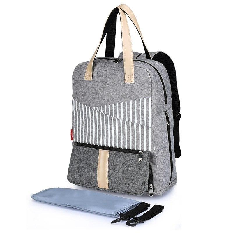 Stripe Mommy for Backpack <font><b>Powder</b></font> <font><b>Baby</b></font> <font><b>Diaper</b></font> Bag Organizer Women