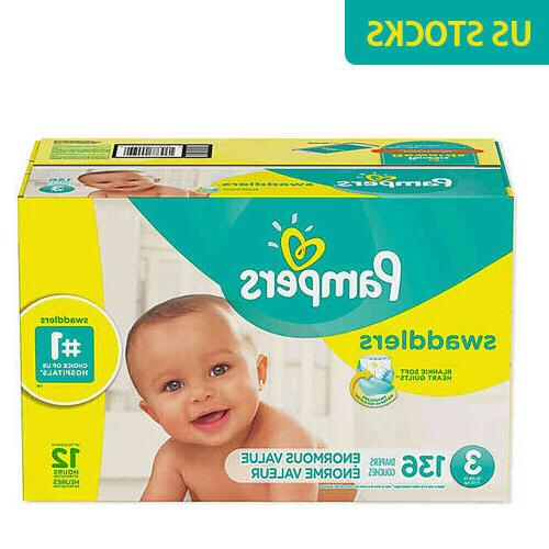 swaddlers 136 count size 3 pack diapers