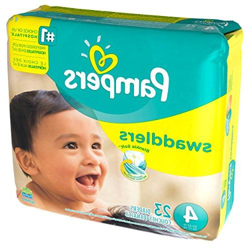 Pampers Size 4, 23 Swaddlers Indicator
