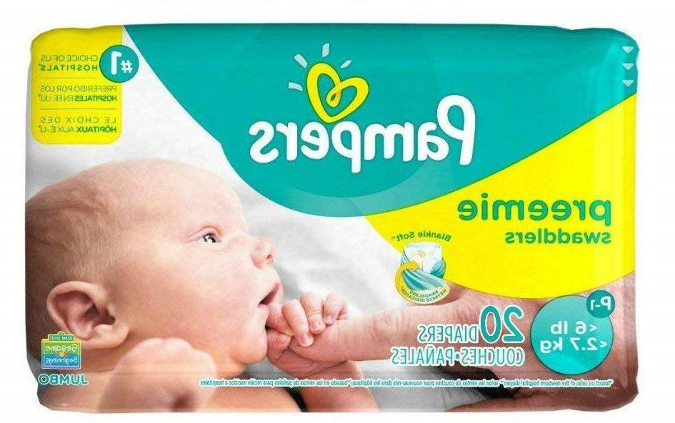 swaddlers diapers preemie p 1 s p