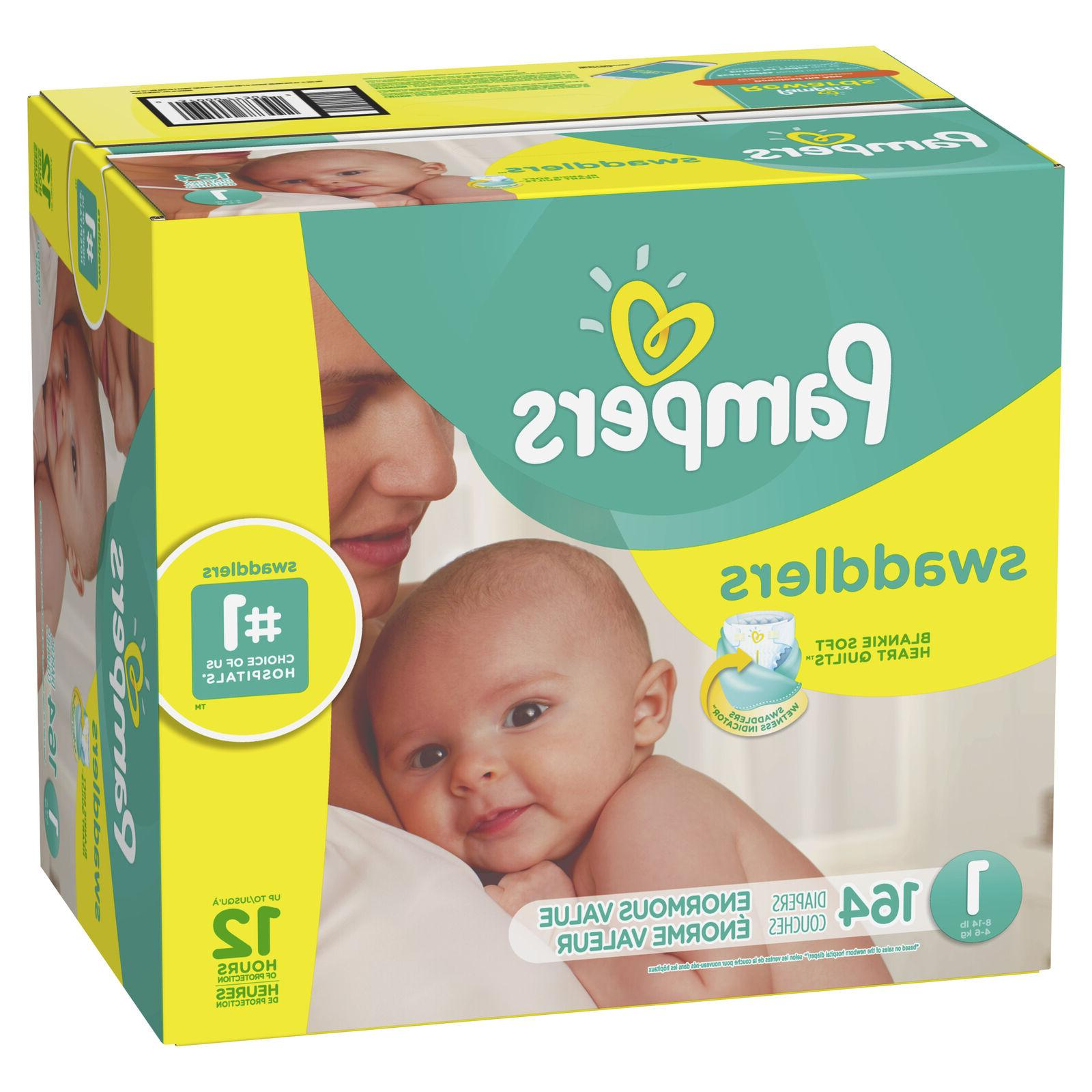 swaddlers diapers size 1 164 count