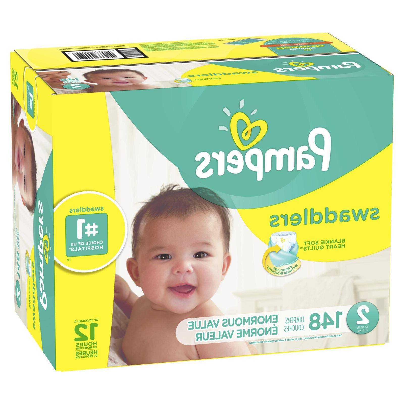 swaddlers diapers size 2 148 count