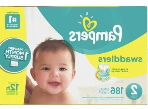 swaddlers diapers size 2 186 count