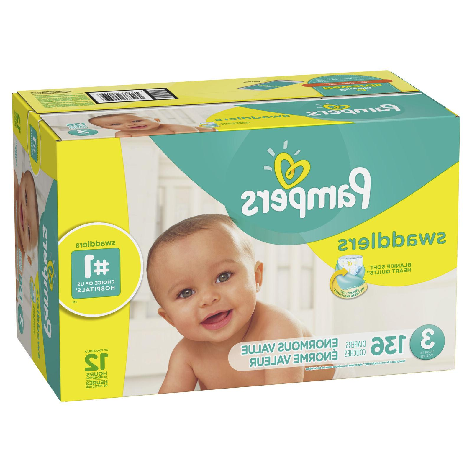 swaddlers diapers size 3 136 count