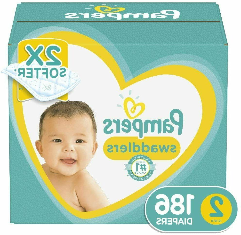 swaddlers disposable baby diapers size 2 186